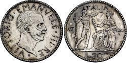 20 Lira Kingdom of Italy (1861-1946) Silver Victor Emmanuel III of Italy (1869 - 1947)