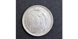 20 Lira San Marino Silver