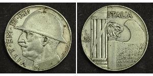 20 Lira 意大利王國 (1861-1946)  Vittorio Emanuele III (1869 - 1947)