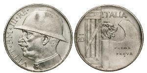 20 Lira Kingdom of Italy (1861-1946)  Vittorio Emanuele III (1869 - 1947)