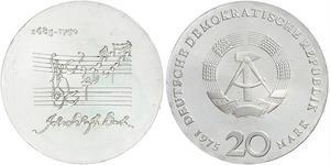 20 Mark 東德 (1949 - 1990) 銀