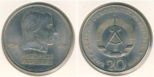 20 Mark 東德 (1949 - 1990) 銅/镍
