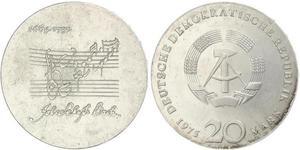 20 Mark République démocratique allemande (1949-1990) Argent