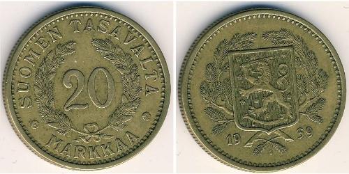 20 Mark Finland (1917 - ) Bronze