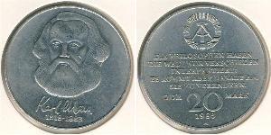 20 Mark German Democratic Republic (1949-1990) Copper/Nickel Karl Marx