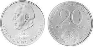 20 Mark German Democratic Republic (1949-1990) Copper/Nickel