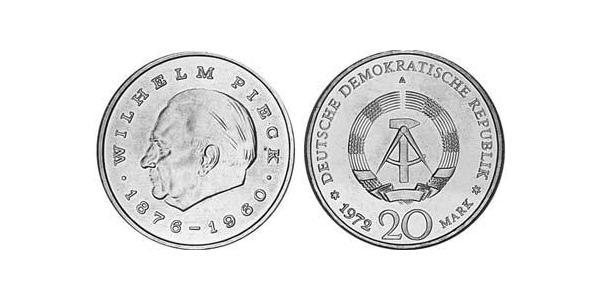 20 Mark République démocratique allemande (1949-1990) Cuivre/Nickel Wilhelm Pieck