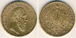20 Mark Grand Duchy of Baden (1806-1918) Gold