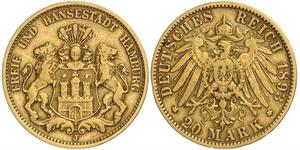 20 Mark Hamburg Gold