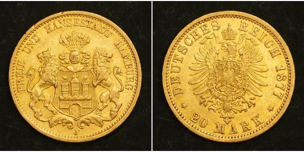 20 Mark Hamburg Gold