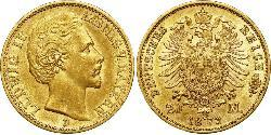 20 Mark Kingdom of Bavaria (1806 - 1918) Gold Ludwig I of Bavaria (1786 – 1868)