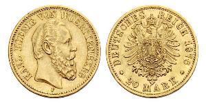 20 Mark Kingdom of Württemberg (1806-1918) Gold Charles I of Württemberg