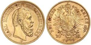 20 Mark Kingdom of Württemberg (1806-1918) Gold