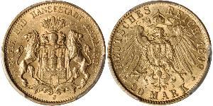 20 Mark States of Germany Gold