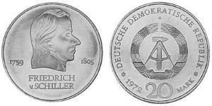 20 Mark República Democrática Alemana (1949-1990) Níquel/Cobre