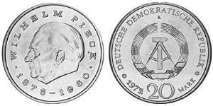 20 Mark República Democrática Alemana (1949-1990) Níquel/Cobre Wilhelm Pieck