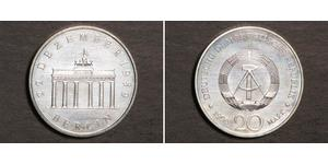 20 Mark República Democrática Alemana (1949-1990) Níquel/Cobre/Plata