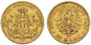 20 Mark Empire allemand (1871-1918) Or