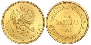 20 Mark Empire russe (1720-1917) / Grand-duché de Finlande (1809 - 1917) Or Alexandre III (1845 -1894)