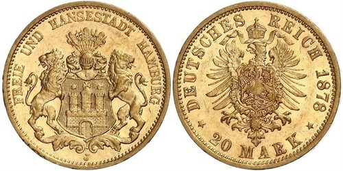 20 Mark Amburgo Oro