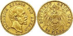 20 Mark Anhalt-Dessau (1603 -1863) Oro Frederick I, Duke of Anhalt (1831-1904)