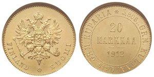 20 Mark Granducato di Finlandia (1809 - 1917) / Impero russo (1720-1917) Oro Alessandro III (1845 -1894)