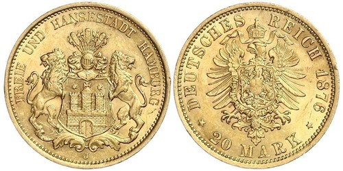 20 Mark Impero tedesco (1871-1918) Oro