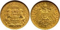 20 Mark States of Germany Oro