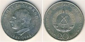 20 Mark Deutsche Demokratische Republik (1949-1990) Silber Ernst Thälmann