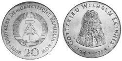 20 Mark German Democratic Republic (1949-1990) Silver