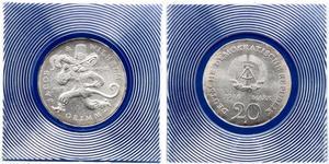 20 Mark República Democrática Alemana (1949-1990)