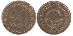 20 Para Socialist Federal Republic of Yugoslavia (1943 -1992) Copper/Zinc