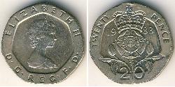 20 Penny Vereinigtes Königreich Kupfer/Nickel