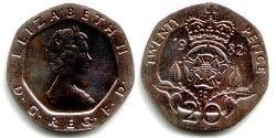 20 Penny Vereinigtes Königreich