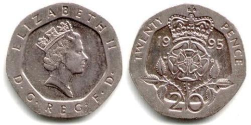 20 Penny Vereinigtes Königreich (1922-)  Elizabeth II (1926-)