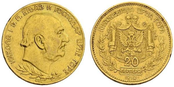 20 Perper  Montenegro Gold