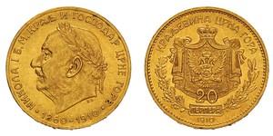 20 Perper  Montenegro Oro