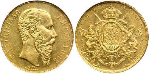 20 Peso 墨西哥第二帝國 (1864 - 1867) 金 Maximilian I of Mexico (1832 - 1867)