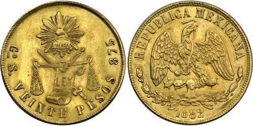 20 Peso 墨西哥 金