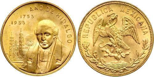20 Peso 墨西哥 金 Miguel Hidalgo