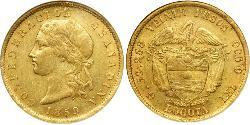 20 Peso 格拉納達聯合 (1858 - 1863) 金