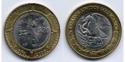 20 Peso United Mexican States (1867 - ) Bimetal