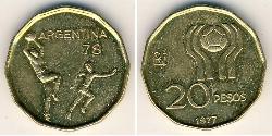 20 Peso Argentine Republic (1861 - ) Bronze/Aluminium