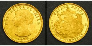20 Peso Chile Gold