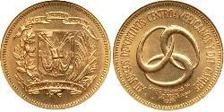 20 Peso Dominican Republic Gold