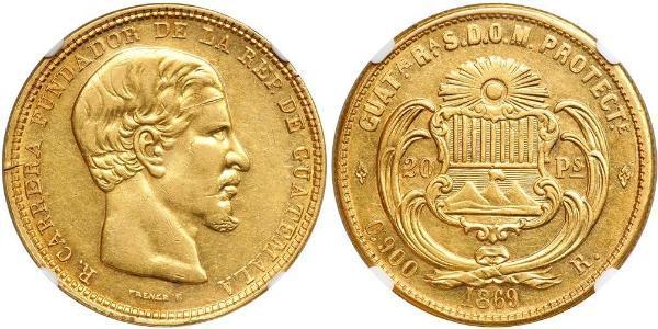 20 Peso Guatemala Gold