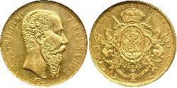 20 Peso Kaiserreich Mexiko (1864 - 1867) Gold Maximilian I of Mexico (1832 - 1867)