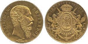 20 Peso Kaiserreich Mexiko (1864 - 1867) Gold Maximilian I of Mexico (1832 - 1867)