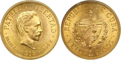 20 Peso Kuba Gold Jose Julian Marti Perez (1853 - 1895)