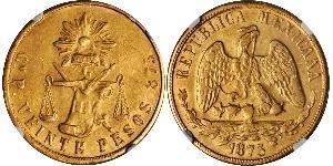20 Peso Mexiko (1867 - ) Gold